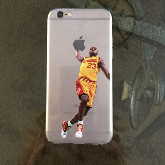 Lebron James IPhone 6 Case Rubber case- iPhone 6 NBA Basketball Star Dunks Accessories Phone Cases