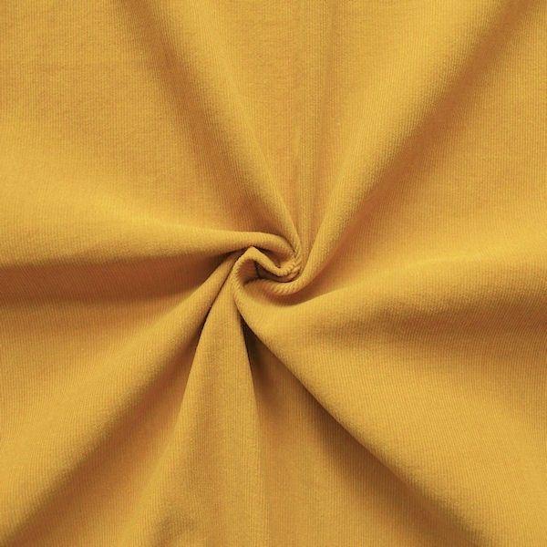 "100% Baumwolle Feincord Babycord ""Fashion Classic"" Farbe Curry-Gelb"