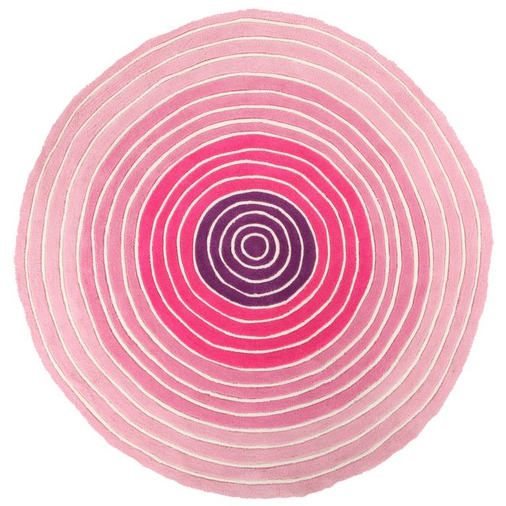 RED TONES - CIRCLE RUG 120 X 120 Part of our new range of exciting, exclusively designed children's rugs. 20 mm pile height, acrylic pile, thick and plush these hand tufted and carved rugs are durable, washable and gorgeous!