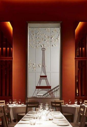 Bistro Moderne, Miami designed by Yabu Pushelberg