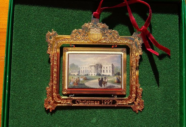 1997 The White House Historical Association WHHA Christmas Ornament with Box  | eBay