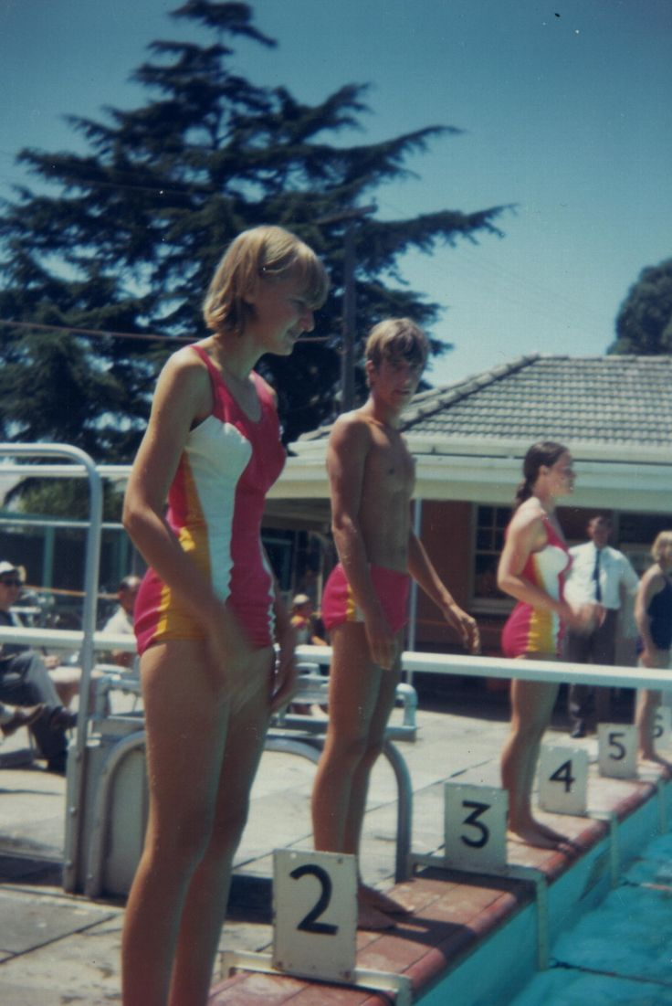 Swimming competition at Malvern Baths, 1968.
