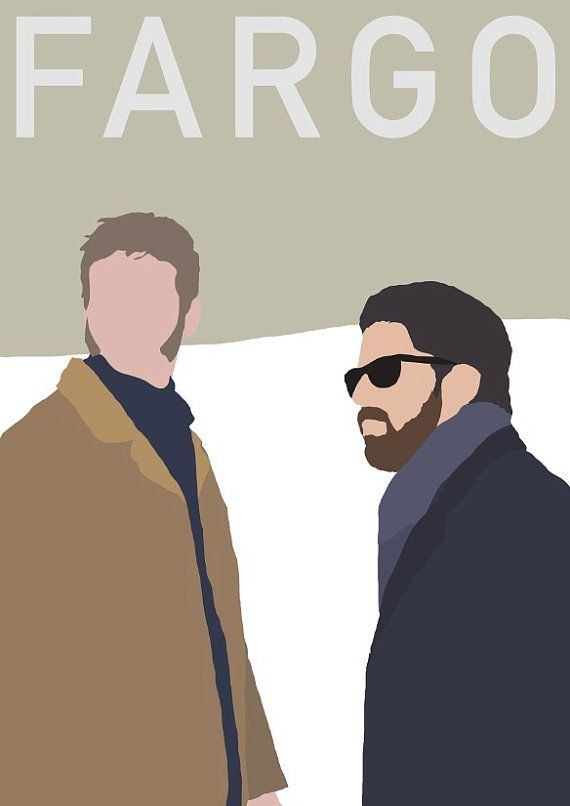 Fargo  Mr. Numbers and Mr. Wrench minimalist poster by BokaPrint, £7.50