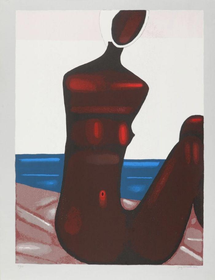 Jerzy Nowosielski - Akt na plaży, 1997 r.