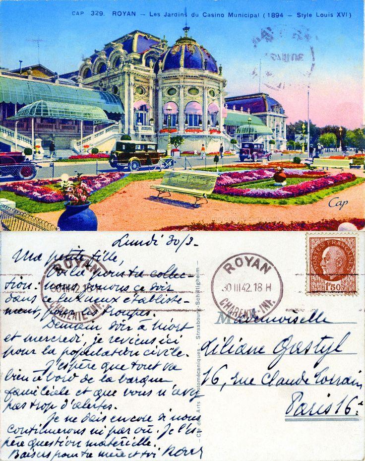 Royan - Les Jardins du Casino Municipal (1894 - Style louis XVI) - 1942 (from http://mercipourlacarte.com/picture?/2002/)