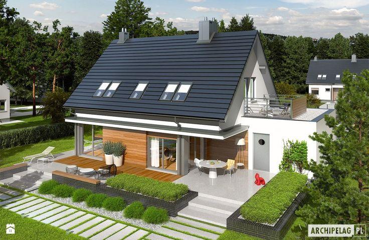 Projekt domu Lars G1 (wersja A) - zdjęcie od Pracownia Projektowa ARCHIPELAG - Taras - Styl Minimalistyczny - Pracownia Projektowa ARCHIPELAG