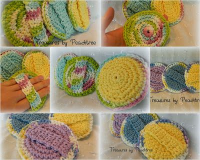 "Sewing And Crocheting Blog: ""Crocheted Scrubbies - my own pattern!"" by Treasures by Peachtree"