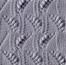Japanese-Waves,-Lace-and-Bobbles-Stitch