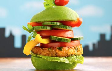 Veggie Burger Delight - Why should meat lovers have all the fun?