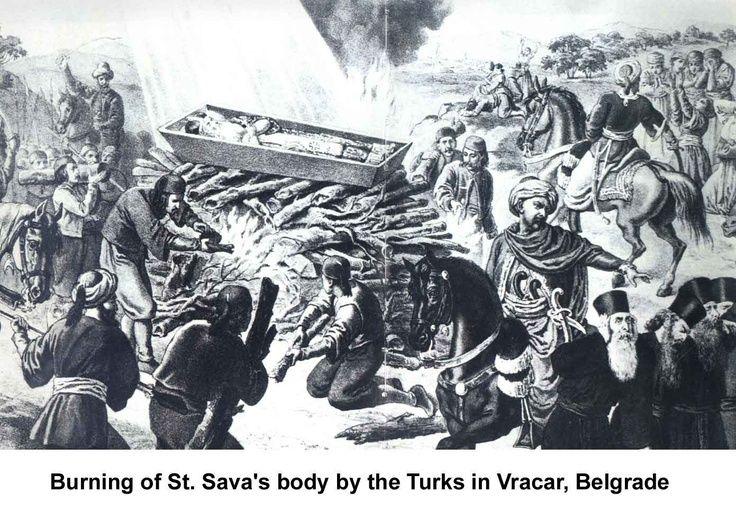 Burning of St. Sava's Body by the Turks on Vracar, Belgrade