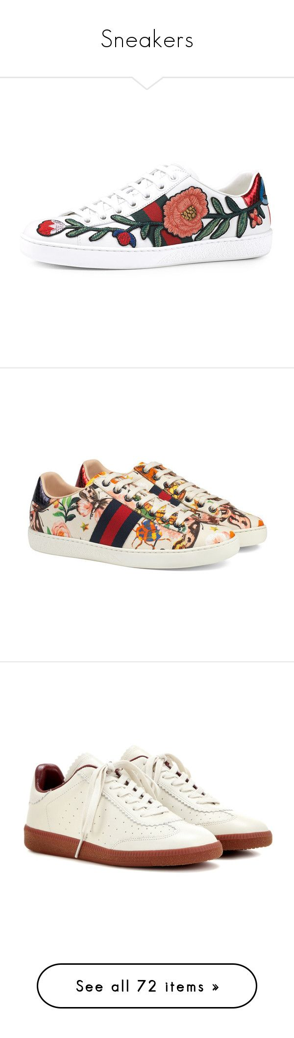 """""""Sneakers"""" by miriam83 ❤ liked on Polyvore featuring shoes, sneakers, gucci, flats, white, white leather sneakers, gucci sneakers, white leather shoes, white low top sneakers and white flat shoes"""