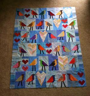 joe tulips quilts: birds.... instructions for bird block