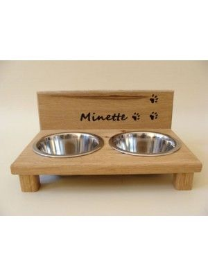 Porte gamelles pour chats personnalis chat pinterest for Porte de champerret salon chiens chats