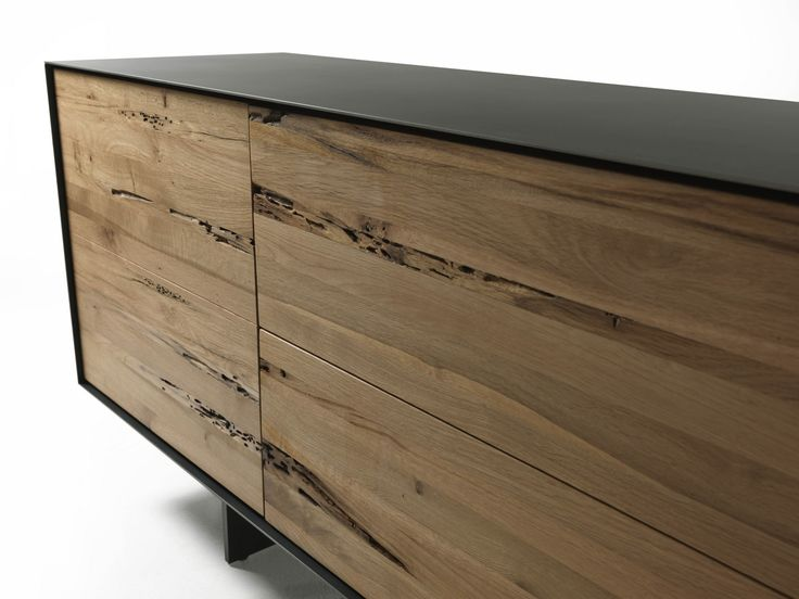 RIALTO FLY Briccola wood sideboard by Riva 1920 design Giuliano Cappelletti
