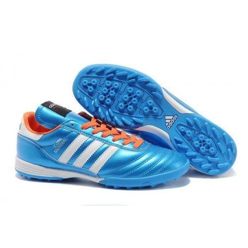 Fri Frakt! Adidas Copa Mundial TF Fotbollsskor för män Blå Vit Röd