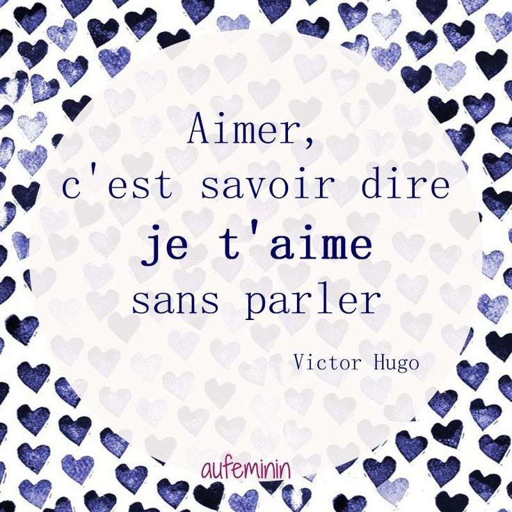La définition du verbe Aimer par Victor Hugo