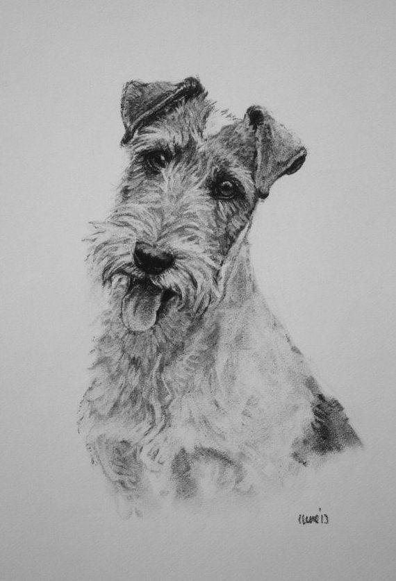 Wire Fox Terrier dog print, fine art print, dog lover gift ...
