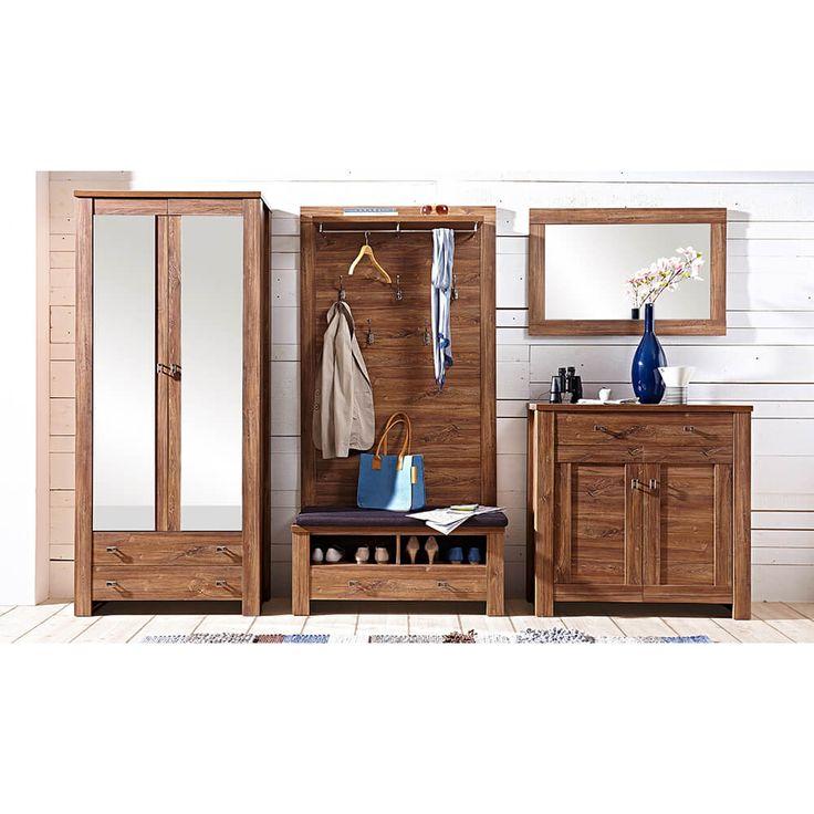 Great Garderoben Set mit Spiegelschrank Br ssel Akazie Jetzt bestellen unter https moebel ladendirekt de bad badmoebel spiegelschraenke uid udadfc ac a