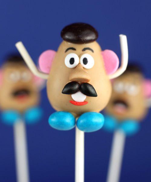 Mr. Potato head cake pop semi #tutorial! Looks fun. And other cake pops by #bakerella