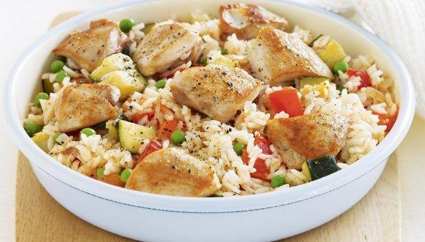 Κοτόπουλο και πιλάφι με λαχανικά