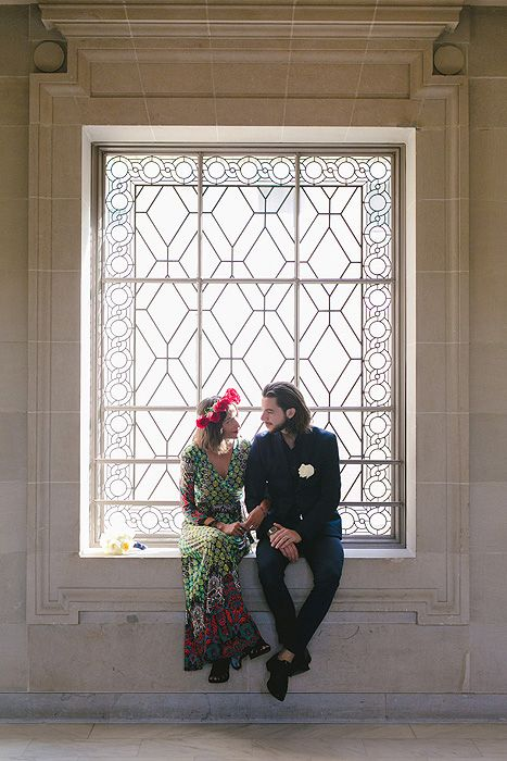 Kelly and Lee's Boho San Francisco City Hall Elopement