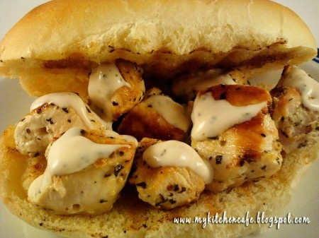 Chicken Spiedie Sandwiches...a sammy that originated in Endicott, NY ...
