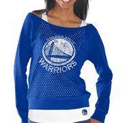 Golden State Warriors Ladies Holy Sweatshirt & Tank Set - Royal Blue