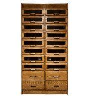 Vintage Style Oak Haberdashery Cabinet