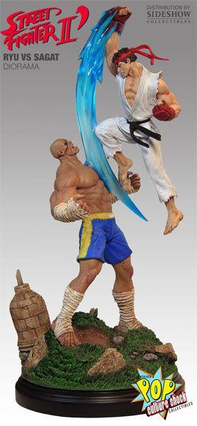 Sideshow Collectibles - Ryu VS Sagat Diorama Polystone Diorama