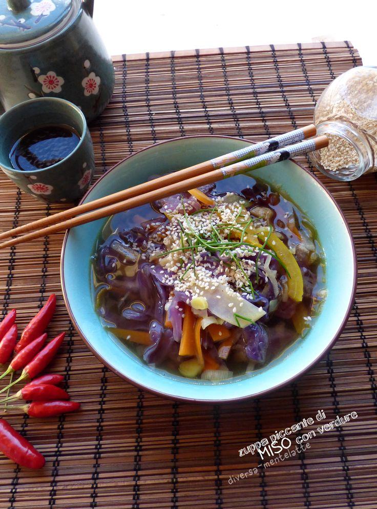 zuppa piccante di #miso vegana