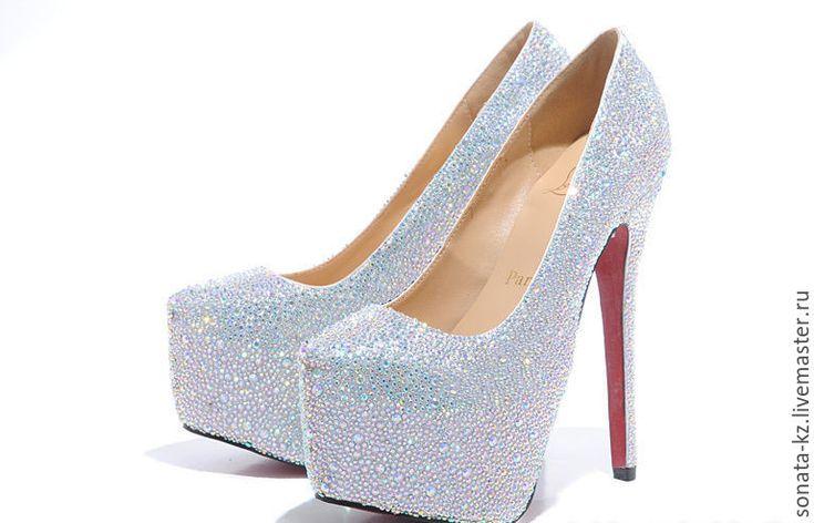 """Купить Свадебные туфли """"Гламур"""" - серебряный, туфли женские, свадебные туфли, свадебная обувь, обувь"""