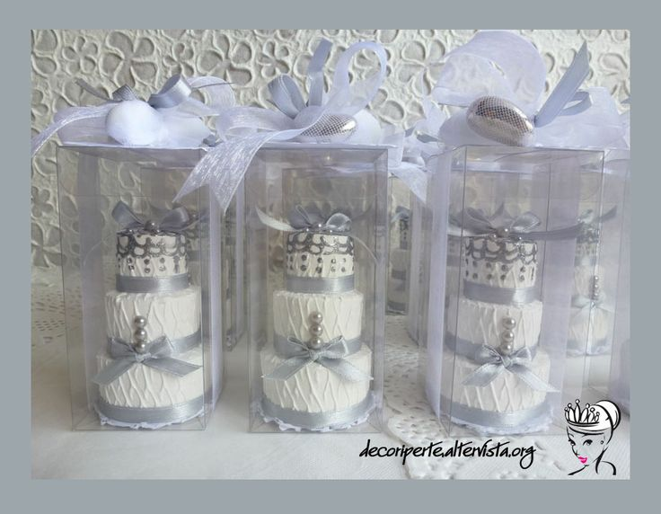 Silver 25th Wedding Anniversary: Silver 25° Wedding Anniversary Favors