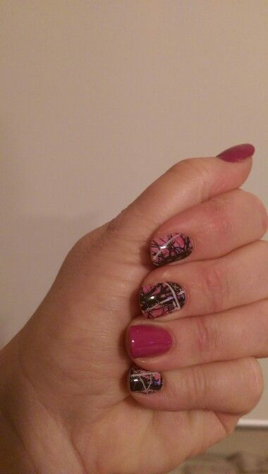 Muddy girl camo with mulberry lacquer