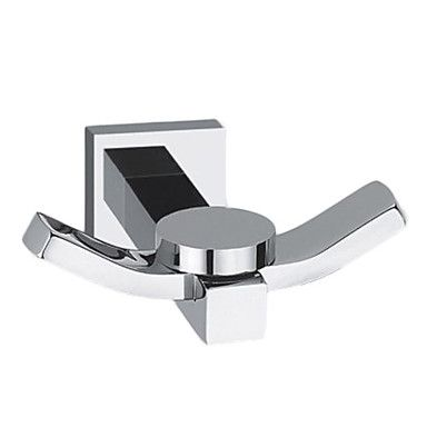 Robe Hook,Contemporary Chrome Finish Solid Brass Silver Wall Mount,Bathroom Accessory – USD $ 9.99
