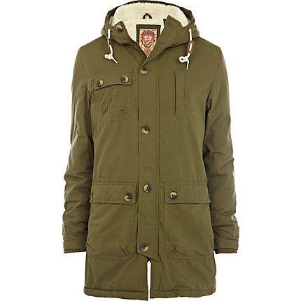 Green Tokyo Laundry hooded parka - coats - coats / jackets - men