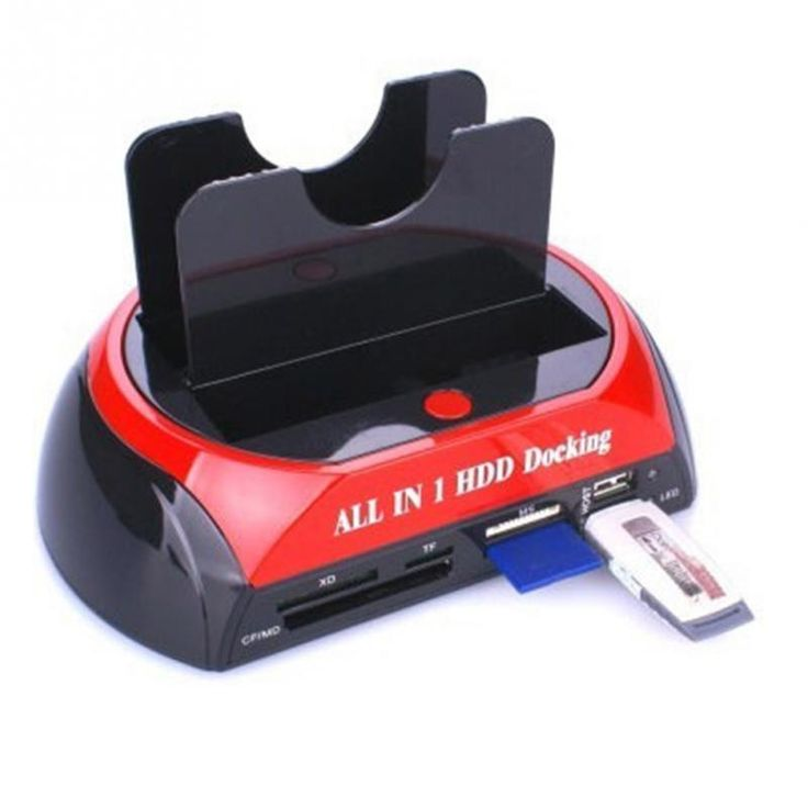 """USB 2.0 to 2.5\""""/3.5\"""" SATA Multi-function HDD Docking Station All in One Card Reader Hard Drive with Power LED indicators"""