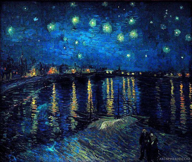 Vincent van Gogh: Starry Night Over the Rhone (1888) by artspheric, via Flickr