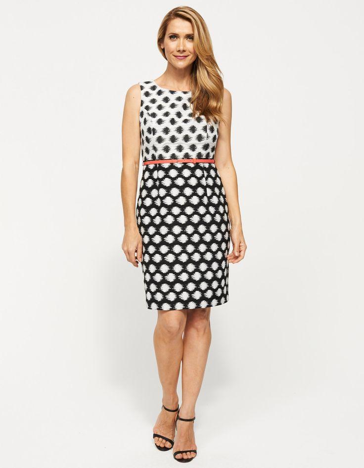 Jacquard Spot Dress | JacquiE