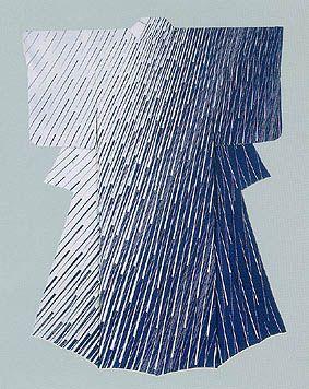 "Formal kimono with design in yuzen dyeing.""Sun-shower"" by ADACHI Masazumi"