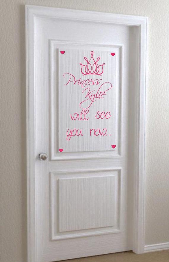 door sticker. Haha cute :)