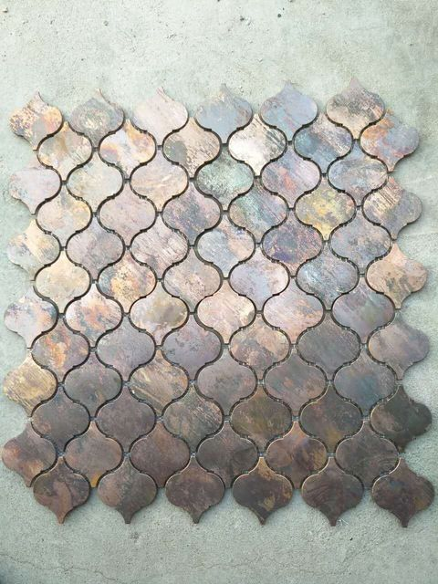 Antique Lantern metal Copper mosaic brass tile for kitchen wall decoration