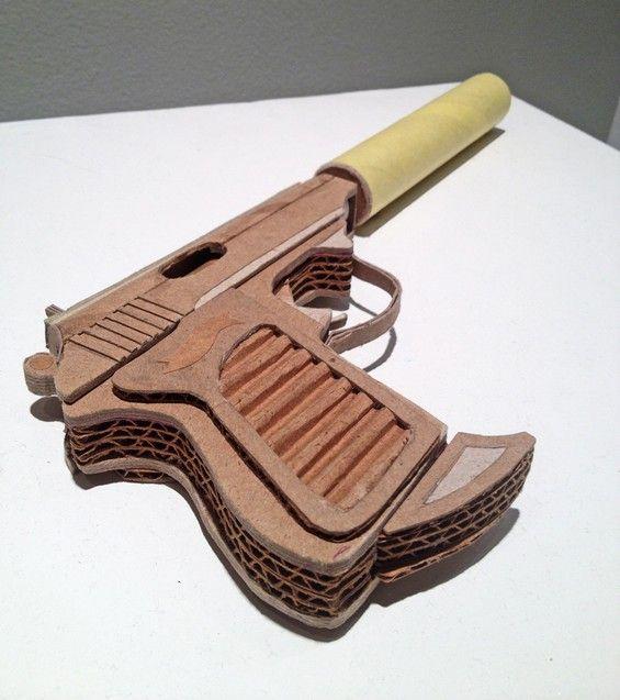 Asif Farooq S Cardboard Guns Beautiful Decay Artist