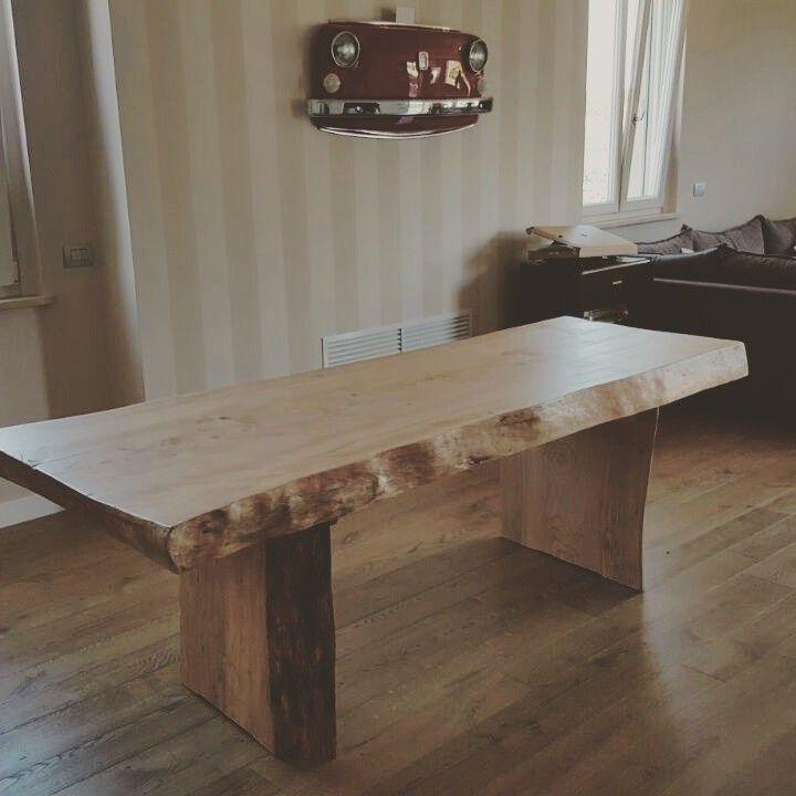 www.xlab.design tavolo in legno massiccio cedro rosso del Libano un'opera unica costruita a mano dagli artigiani xlab