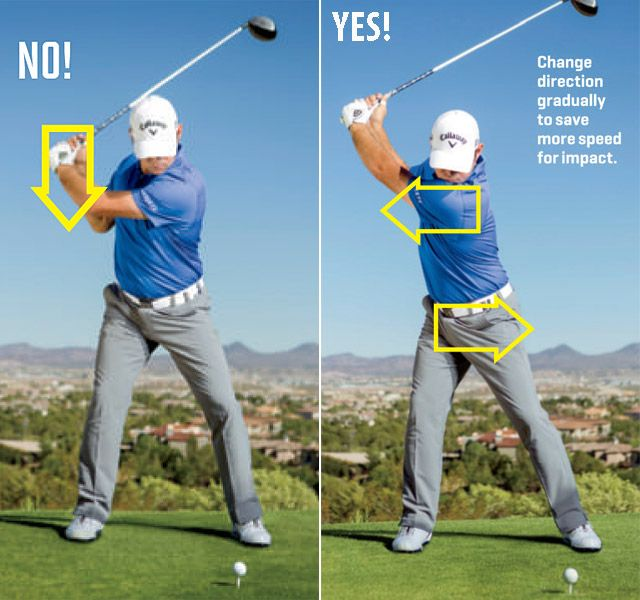 Negative and positive attack angle for golf driver swing.