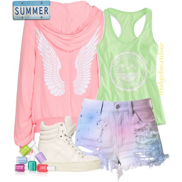 """Summer Fun"" by irishgrlnextdoor on Polyvore Teen summer outfit. fashion."