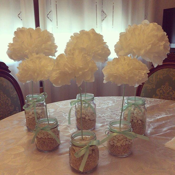Paper flower, decoration for wedding. Low cost  Fiori di carta, decorazione per matrimonio a basso costo!