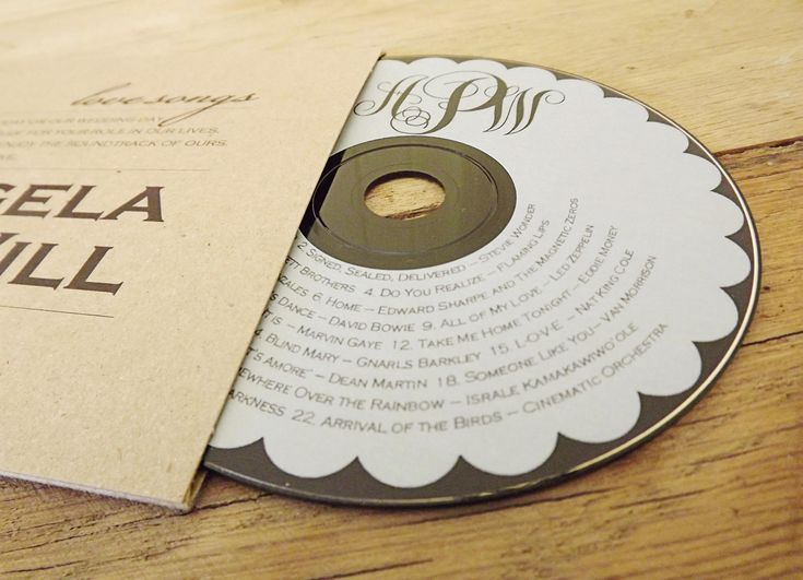 A Soundtrack Of The Wedding As Favor CD Custom Sleeves Labels