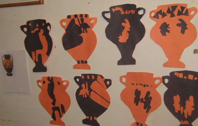 Greek Amphora Cut-outs Art Project