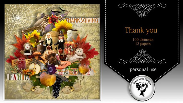 Thank you by Black Lady Designs - $3.25 : ScrapBird!, source for digital scrapbooking