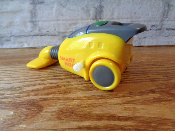 Vintage yellow Smart Home miniature hoover vacuum cleaner with wind-up mechanism moving parts mini hoover tiny doll house item (O) by IrishBarnVintage on Etsy